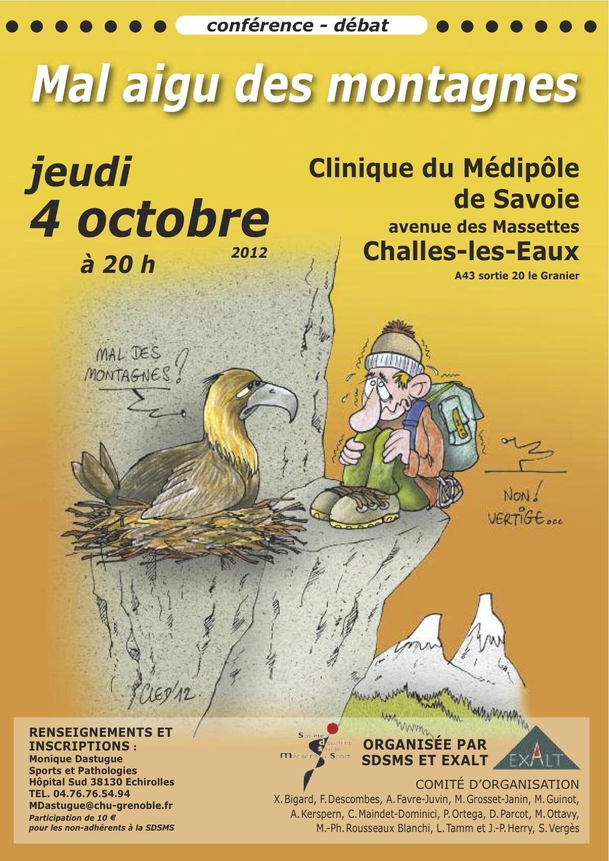 le mal aigu des montagnes ... - Centre Médecine du Sport de Lyon Gerland